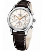 【滿額禮電影票】LONGINES 浪琴 經典導柱輪計時機械腕錶/手錶 L27424762