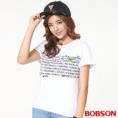 BOBSON 女款圖案、寬版上衣(27093-81)