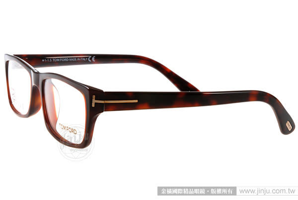 TOM FORD 眼鏡 TOM4239 052 (琥珀棕) 簡約潮流 平光鏡框 # 金橘眼鏡