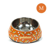 Gudetama 正版授權 蛋黃哥 寵物碗 繽紛寵物碗 橙底蛋黃哥 (M) 《SV8872》HappyLife