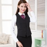 大尺碼職業裝小西裝馬甲酒店銀行工作服修身顯瘦短款正裝背心馬夾 QQ12847『bad boy時尚』