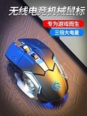 滑鼠 適用于Huawei/華為無線靜音無聲電競游戲機械滑鼠加重燈光可充電臺式筆記本 夢藝家
