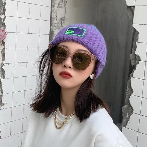 2021新品促銷 帽子女冬天毛線帽韓國棉帽百搭冷帽保暖韓版日系黑色針織帽秋季