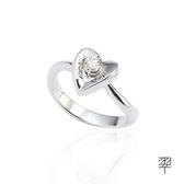 【LECRIN翠屋珠寶】心心相印0.13克拉美鑽-白K金