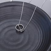 項鍊 925純銀圓環墜飾-大方個性情人節生日禮物女飾品73gy104【時尚巴黎】