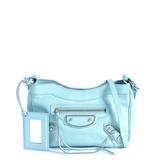 Balenciaga 巴黎世家METALLIC EDGE HIP銀釦斜背/側背包  薄荷綠色