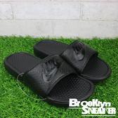 Nike Benassi JDI Swoosh 全黑 GD 海灘 運動 拖鞋 (布魯克林) 2018/3月 343880-001