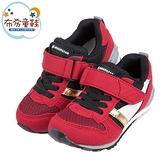 《布布童鞋》Moonstar日本Hi系列黑紅色兒童機能運動鞋(15~21公分) [ I1DS62A ]