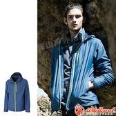 Wildland 荒野 0A52910-77中藍色 男輕量網布刷毛裡防風外套 保暖夾克/防風外套/輕量外套/爬山健行