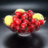歐式創意現代水晶玻璃水果盤大號家用茶幾客廳喜慶婚禮糖果梗豆物語