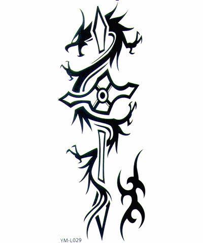 薇嘉雅   龍   夜光紋身貼紙L029
