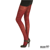 『摩達客』英國進口Pretty Polly 酒紅橫紋彈性褲襪(60112076015)