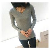 ★韓美姬★中大尺碼~長袖彈力棉打底Ť恤上衣(L)