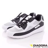【DIADORA】潮流輕跑鞋款-DA6AMC3138-黑白-男段-現+預