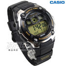 CASIO卡西歐 AE-2000W-9A 10年電力高防水數位大螢幕電子錶款 學生錶 男錶 黃 AE-2000W-9AVDF