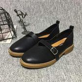 2018春季新款樂福鞋軟妹高學生鞋牛津鞋女英倫繫帶瑪麗珍女鞋單鞋