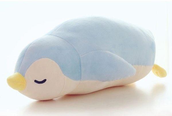 50CM羽絨棉極柔可愛企鵝絨毛玩具玩偶娃娃抱枕午睡枕靠墊(現+預)