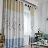 現貨出清  窗簾成品簡約現代田園美式飄窗短簾半簾遮光布遮陽客廳臥室窗簾布