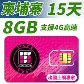 【TPHONE上網專家】柬埔寨 高速上網卡 15天 8GB超大流量