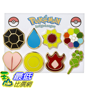 [美國直購] 神奇寶貝 精靈寶可夢周邊 Pokemon B00UPQ1NZ0 Gym Badges - Kanto Gen 1 (Gold Trim)