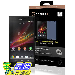 ARMORZ Screen Protector for Sony Xperia Z (Two Pack) (Anti-Glare) 美國隱形神盾級 強化玻璃螢幕保護貼 $787
