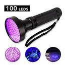100顆LED 紫光 強光手電筒 驗鈔 UV燈 螢光劑檢測