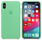 Apple iPhone XS Max 原廠矽膠護套 iPhone XS Max 原廠保護殼【留蘭香綠色】 美國水貨 原廠盒裝