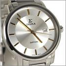 【萬年鐘錶】 日系SIGMA 經典白金男錶 1122M-2G