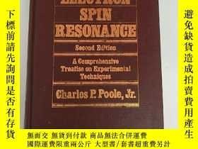 二手書博民逛書店electron罕見spin resonance second