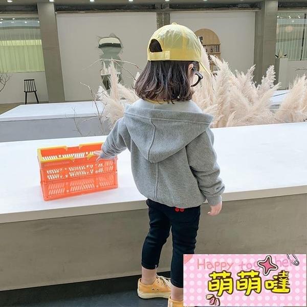 女童外套連帽2021春裝新款洋氣韓版童裝兒童網紅寶寶春秋上衣時髦【萌萌噠】