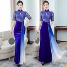 越南旗袍洋裝 2021新款旗袍年輕款高貴中國風新款金絲絨春款旗袍大小姐古法旗袍