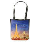 GINZA U法國Souvenirs巴黎棉織側背包/中提包(巴黎鐵塔款)030009-1