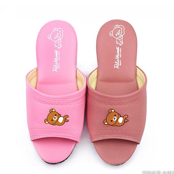 童鞋城堡-拉拉熊 成人款 靜音防滑室內拖鞋KM26174 粉/豆(共兩色)