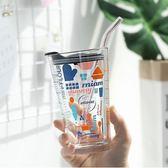 彩色多功能玻璃杯冬季家用牛奶燕麥早餐杯耐熱水杯多刻度烘焙量杯限時八九折