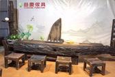 【大熊傢俱】老船木 原木 泡茶桌 茶桌 餐桌 餐椅 餐桌椅組 原木風 實木 桌子椅子