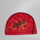 【線上體育】SPEEDO 兒童合成泳帽 Pace 紅-印花