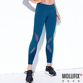 Mollifix 瑪莉菲絲 線性透膚7分動塑褲 (深藍綠)
