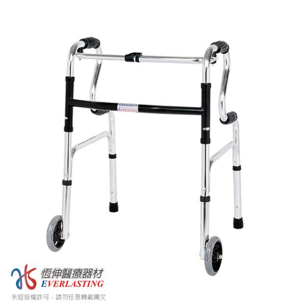 [宅配免運] 恆伸醫療器材 ER-3133 R型助行器+直向輔助輪(藍/黑任選)
