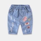 牛仔褲子兒童外穿短褲2019夏季裝新款女孩破洞薄款五分褲童裝