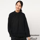 ❖ Winter ❖ 棉麻混紡蕾絲拼接立領上衣 (提醒➯SM2僅單一尺寸) - Sm2