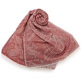 Vivienne Westwood經典LOGO亞麻圍巾(淺紅色)910527-3