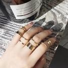 簡約甜美關節戒指女組合潮人配飾正韓氣質開口尾戒指環對戒首飾品【免運】