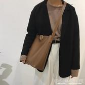 大包包女冬季新款潮時尚復古水桶包百搭ins大容量單肩斜背包ATF 艾瑞斯生活居家