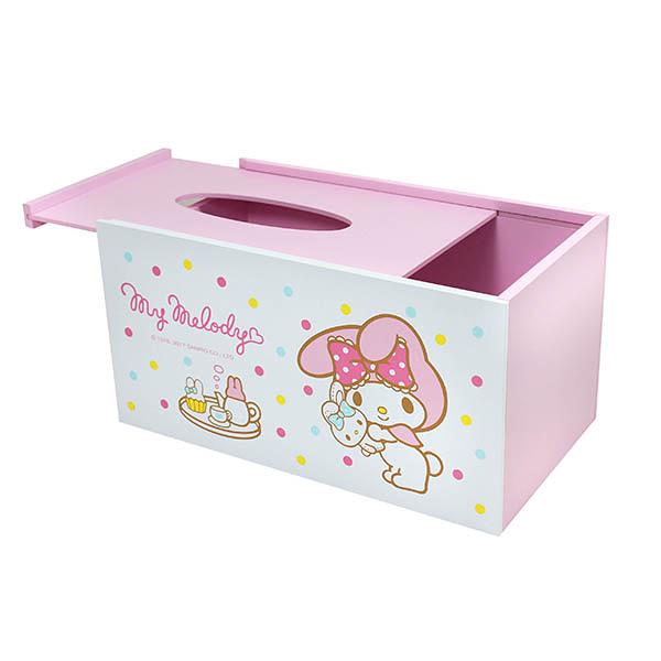【震撼精品百貨】My Melody 美樂蒂~美樂蒂粉彩面紙收納盒