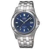 【CASIO】 簡潔時尚男錶-羅馬藍面(MTP-1213A-2A)