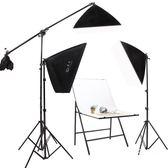 LED小型攝影棚套裝柔光箱攝影燈拍攝臺拍照補光燈攝影燈器材