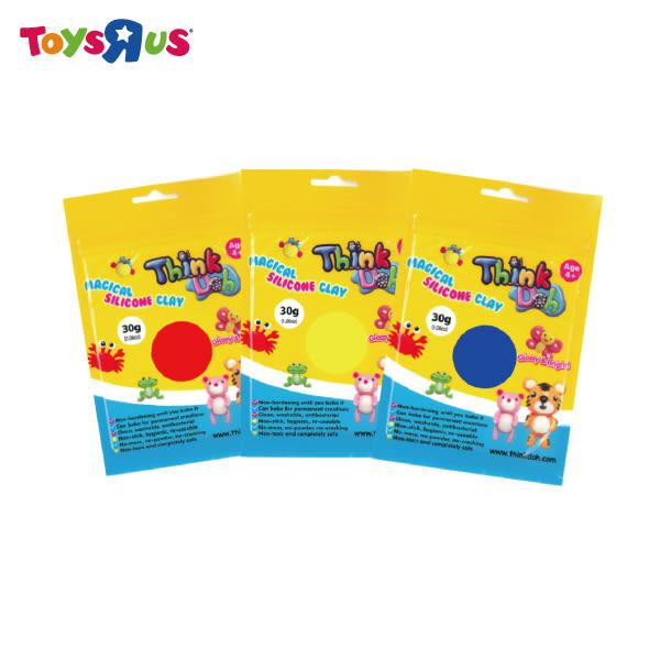 玩具反斗城 Think Doh 想可多矽膠黏土原色組(紅、黃、藍)