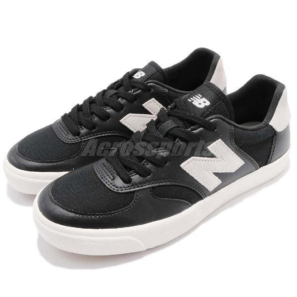 New Balance 休閒鞋 300 NB N字鞋 黑 白 復古奶油底 低筒 平底鞋 皮革 男鞋 女鞋【ACS】 CRT300XBD