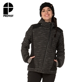 PROTEST 女 機能防水保暖外套 (真實黑) MESSENGER SNOWJACKET