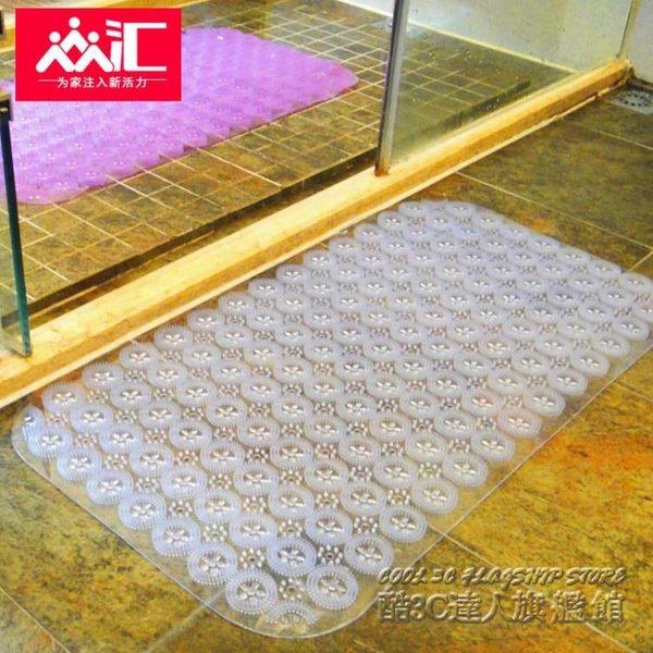 加厚pvc浴室防滑墊洗手衛生間地墊吸盤淋浴房洗澡衛浴廁所腳墊子
